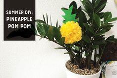 Pineapple Pom Pom Key Chains — The Paper + Craft Pantry
