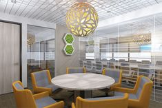 Mindful Design Consulting Creates Visually Stimulating Office Design for Wealth Management Firm - Mindful Design Consulting Office Interior Design, Office Interiors, Investment Firms, Wealth Management, Cubicle, Mindful, Dining Table, Room, Furniture