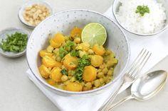 Veganes Karotten-Curry mit Kichererbsen {Eiweißreich}