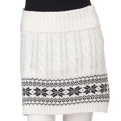 Cable-Knit Fairisle Sweater Skirt from Kohl's $18