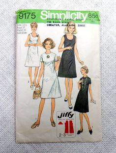 Vintage sewing pattern Simplicity by momandpopcultureshop on Etsy