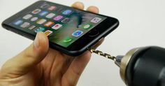 Still torn about the iPhone 7 not having a headphone jack? Make your own. As TechRax shows us, it works