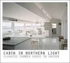 classic white beach house interior | Weekend Cabin: Strömstad, Sweden