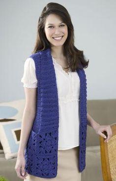Bamboo Wool Vest Crochet Pattern