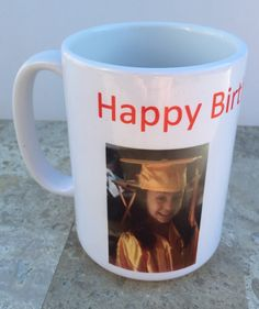 Photo Mug, Fathers Day Gift, Mothers Day Gift, Kitchen, Happy Birthday Mug, Your Picture here, personalized coffee mug by RAmysCraftRoom on Etsy