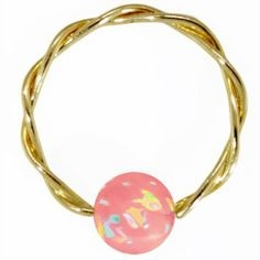 "14G 5/16"" Pink Opal Solid 14K Yellow Gold Twisted Captive FreshTrends. $37.99. Our gold body jewelry is not plated and is not crafted from cheap imported gold. Our gold jewelry is crafted from nickel-free solid 14K Gold. Save 53%!"