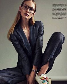 """Editorial """"Take It Easy"""" with Katrin Thormann by Henrik Bulow in Vogue Germany. April 2016, styling by Claudia Englmann. Hair and make up by Mette Thorsgaard and Patrick Glatthaar."""