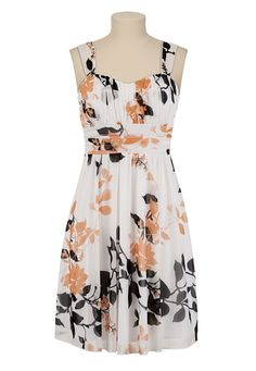 Floral Chiffon Tank Dress available at #Maurices