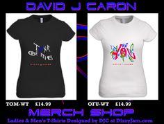 David J Caron Merchandise Design at Dizzyjam Design T Shirt, Shirt Designs, Lyrics, Album, T Shirts For Women, Band, Artwork, Mens Tops