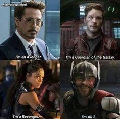 I am a teacher of the three - Marvel Marvel Squad, Marvel Dc, Marvel Films, Disney Marvel, Marvel Heroes, Marvel Quotes, Funny Marvel Memes, Dc Memes, Avengers Memes