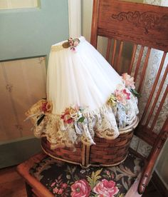 vintage lace and roses shabby chic lamp shade