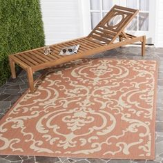 Safavieh Bimini Damask Terracotta Natural Indoor Outdoor Rug 6 7 X 9