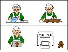 The Gingerbread Man Story Sequencing Cards Sequencing Cards, Story Sequencing, Sequencing Activities, Speech Therapy Activities, Language Activities, Preschool Activities, Sequencing Pictures, Speech Language Pathology, Speech And Language