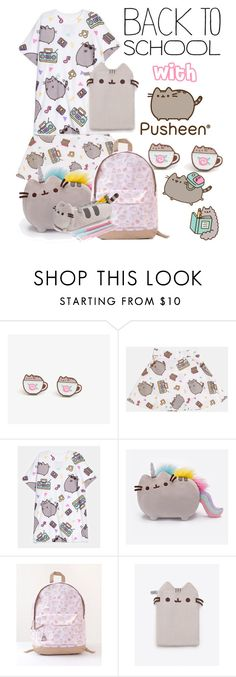 """#PVxPusheen Going back to school Pusheen style."" by sarah-michelle-thompson ❤ liked on Polyvore featuring Pusheen, contestentry and PVxPusheen"