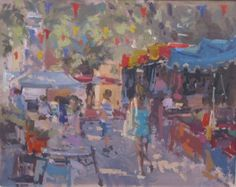 British Artist John MARTIN - Shopping in France