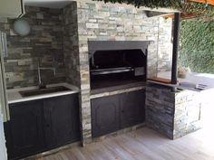 Do Pergolas Provide Shade Wood Pergola, Pergola With Roof, Parrilla Interior, Outdoor Barbeque, Bbq Area, Outdoor Kitchen Design, Outdoor Rooms, Architecture Design, Sweet Home