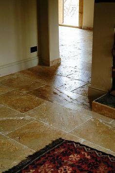 limestone tiles | flags, hand waxed.
