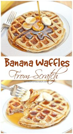 The perfect weekend brunch made at home, Banana Waffles From Scratch!