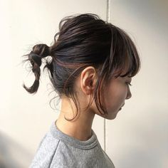 Short Hair Styles Easy, Medium Hair Styles, Curled Hairstyles, Pretty Hairstyles, Bangs Updo, Haircuts For Medium Hair, Hair Streaks, Hair Arrange, Hair Setting