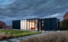 For a sleek guesthouse in upstate New York, Manhattan-based architecture firm Janson Goldstein didn't want to compete with the existing main house on the rural site. 'We did this by coming up with a very simple and clear design,' says partner Hal...