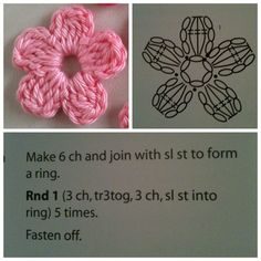 pattern for the cute flower