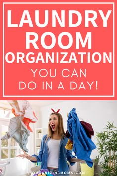 How to organize your laundry room and reset your space. Laundry room organizing ideas you can do in a day. Make your laundry room into an organized oasis with these easy-to-follow steps. #Organizing #MomHacks #organizingmoms Laundry Sorter, Laundry Area, Laundry Room Organization, Laundry Hamper, Change Jar, Washing Machine And Dryer, Folding Laundry, Well Thought Out, Mom Hacks