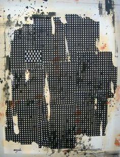 Azad, collage, peinture, 2008