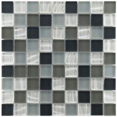Somertile Maritime Troctus Glass Mosaic Wall Tiles (Pack of 10) o.com