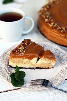 Sernik kajmakowy Food Cakes, Cupcake Cakes, Cupcakes, My Recipes, Cake Recipes, Caramel Cheesecake, Cake Boss, Cheesecakes, Tiramisu