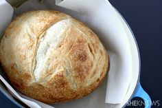 Dutch oven baked fresh bread via @Brandy Waterfall Clabaugh O'Neill {Nutmeg Nanny}