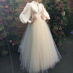 Hijab Dress Party, Hijab Evening Dress, Tulle Prom Dress, Hijab Wedding Dresses, Dress Wedding, Hijab Outfit, Dresses For Hijab, Muslim Prom Dress, Lace Wedding