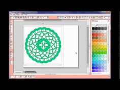 Doily Designing with Silhouette Studio Software .. great video with many techniques