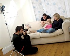 Family Portraits at Home: tips for taking contemporary family photos on a budget