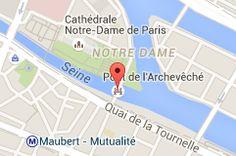 Pont de l'Archevêché : carte