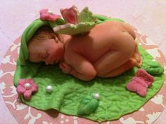 Fondant baby cake topper