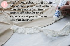 No-Sew Slip Extender Tutorial by Jenny at Clothed Much Modest Fashion Blog