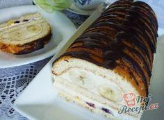 Nadýchaná roláda s marmeládou hotová za 15 minut Yummy Recipes, Banana Bread, Sweets, Food, Chef, Mascarpone, Fruit Recipes, Sweet Desserts, Cool Desserts