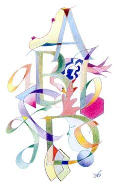 ✍ Sensual Calligraphy Scripts ✍ initials, typography styles and calligraphic art - ABCD