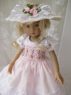 "Little Darling Dianna Effner Doll Outfit Smocked 13"" Decidedly Romantic 