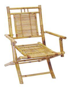 Set of 2 Bamboo Folding Arm Chairs (Vietnam)