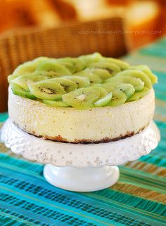 New York Baked Cheesecake (with kiwi topping) - use GF petit beurre