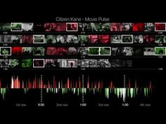 """Four test persons watched """"Citizen Kane"""" by Orson Welles at the same time. Each person wore a Apple Watch which recorded the users heart rate with the Movie . Orson Welles, 2 Movie, Citizen, Heart Rate"""