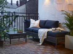 Canapé de jardin en résine