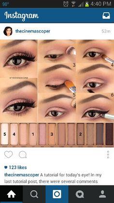 56 trendy makeup tutorial eyeshadow natural urban decay make up Eye Makeup Steps, Smokey Eye Makeup, Makeup Eyeshadow, Eyeshadow Brushes, Makeup 101, Makeup Looks, Makeup Ideas, Games Makeup, Pretty Makeup
