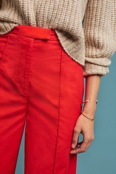 Poplin Wide-Leg Trousers | Anthropologie UK