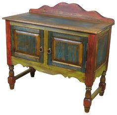 Painted Wood Sideboard with Turned Legs  side tables and accent tables