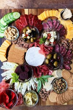 Meat Cheese & Olive Charcuterie Board - Reluctant Entertainer