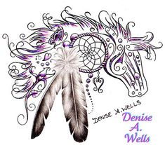 Horse Dream tattoo design by Denise A. Wells if i were to get another horse tattoo this could be a possibility