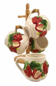 4PC COFFEE MUGS WITH WOOD RACK, STRAWBERRY DECOR ACK,http://www.amazon.com/dp/B001RE7AHY/ref=cm_sw_r_pi_dp_5hmbtb1FPFV5835K