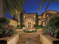 Mediterranean Style Estate In Shady Canyon | iDesignArch | Interior Design, Architecture & Interior Decorating